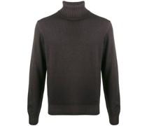 Pullover mit geripptem Rollkragen