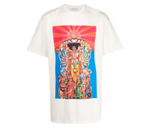 T-Shirt mit indischem Print