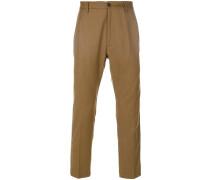 side stripe crop tailored trousers