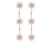 18kt rose gold diamond Sun 3 drop earrings