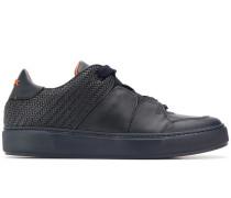 Sneakers mit gewebtem Einsatz