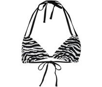 Bikinioberteil mit Zebra-Print