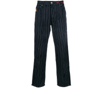 relaxed pin stripe trousers
