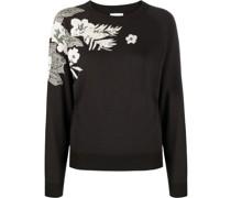 Pullover mit Blumendetail