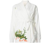Bestickter 'Arctic' Kimono