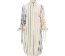 Hemdkleid mit gerafften Ärmeln