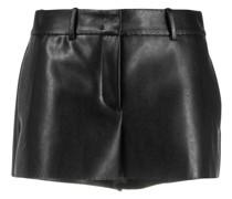 Klassische Shorts aus Faux-Leder