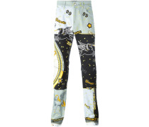 'Astological' print jeans