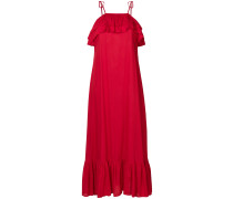 ruffled tie-detail maxi dress
