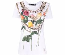 T-Shirt mit floralem Ketten-Print