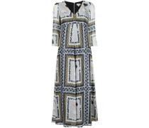 Kleid mit Metallic-Print