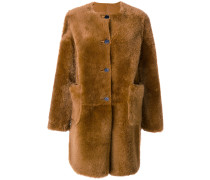Mantel mit Shearingbesatz