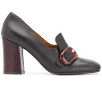 high-heel buckled pumps