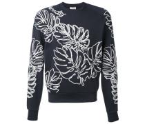 Sweatshirt mit Palmenblatt-Stickerei - men