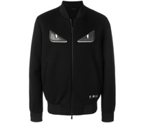 Bag Bugs-appliqué zipped jacket