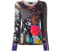 multiprint fine knit jumper