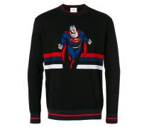 Intarsien-Pullover mit Superman-Motiv - men