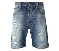 Jeansshorts in Distressed-Optik - men