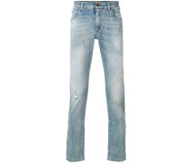slim fit distressed detailed jeans