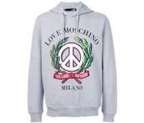 Kapuzenpullover mit 'In Love We Trust'-Slogan