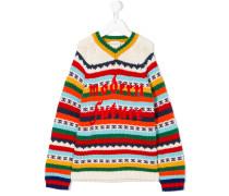 Gemusterter 'Modern Future' Pullover