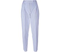 stripe pegged trousers