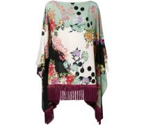 Seidenponcho mit floralem Print - women