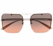 Eckige Brille mit Farbverlauf-Optik