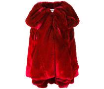 Mantel mit drapiertem Kragen