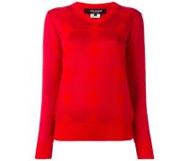 Jacquard-Pullover mit V-Ausschnitt