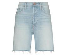 Jeans-Shorts mit ausgefransten Kanten