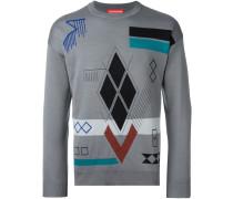 Jacquard-Pullover mit geometrischen Motiven