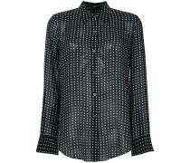 polka dot print sheer shirt