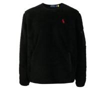logo-embroidered fleece sweatshirt