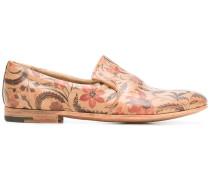 Slipper mit floralem Print - men - Kalbsleder