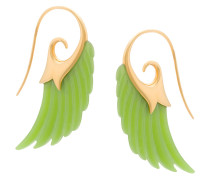 18kt Goldohrringe mit Jade