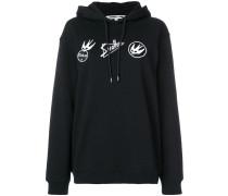 patch detail hoodie
