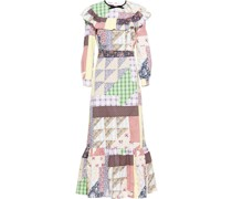 'Bertha' Kleid im Patchwork-Design