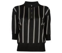 Gestreiftes Cropped-Poloshirt - women