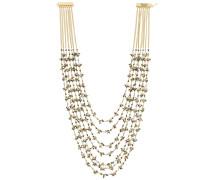 'Ema' Halskette mit Steinperlen