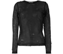 Bluse mit Netzeinsatz - women - Polyester - M