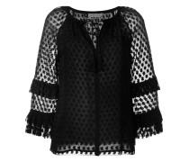Bestickte Bluse mit Schleifenverschluss - women