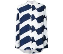 Seidenhemd mit Wellen-Print