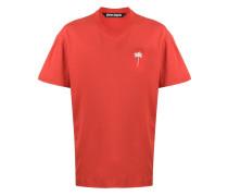 T-Shirt mit Palmenstickerei