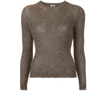 ribbed knit fine knit sweater