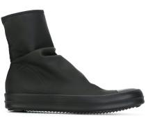 Neopren-Stiefel mit Ledereinsätzen