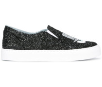 Glitzernde SlipOnSneakers