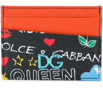 cartoon graffiti print cardholder