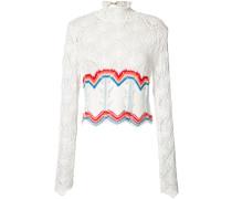 - Cropped-Pullover mit gewelltem Saum - women