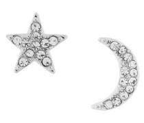 crystal embellished star stud earrings